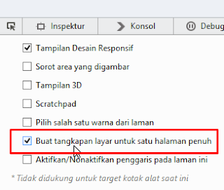Cara Screenshot Full Screen di Mozilla Firefox