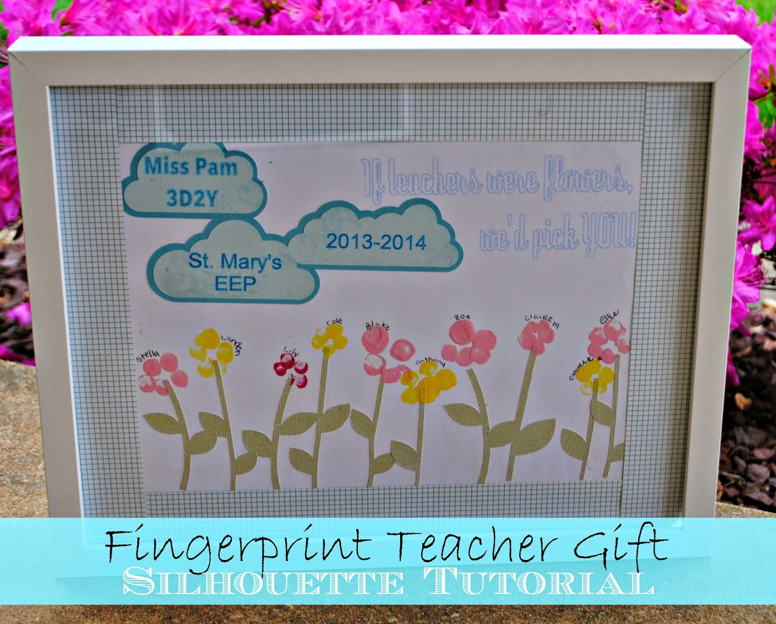 DIY End Of The Year Teacher Gift Fingerprint Art Meets