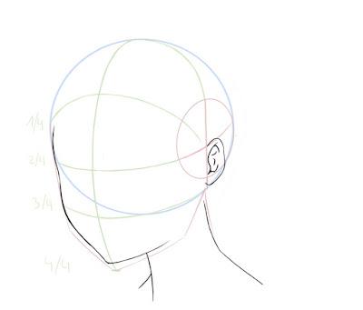 Dessiner un visage manga de côté: dessiner l'oreille