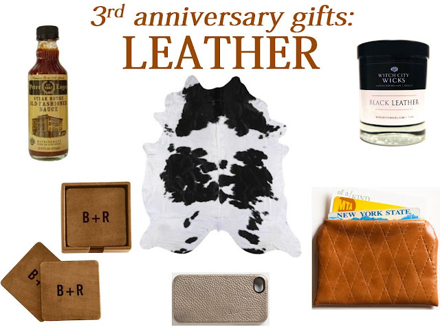 Gift For 3rd Wedding Anniversary: Fresh Basil: 3rd Anniversary Gifts: Leather