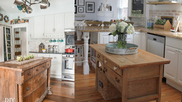 Vintage furniture kitchen islands