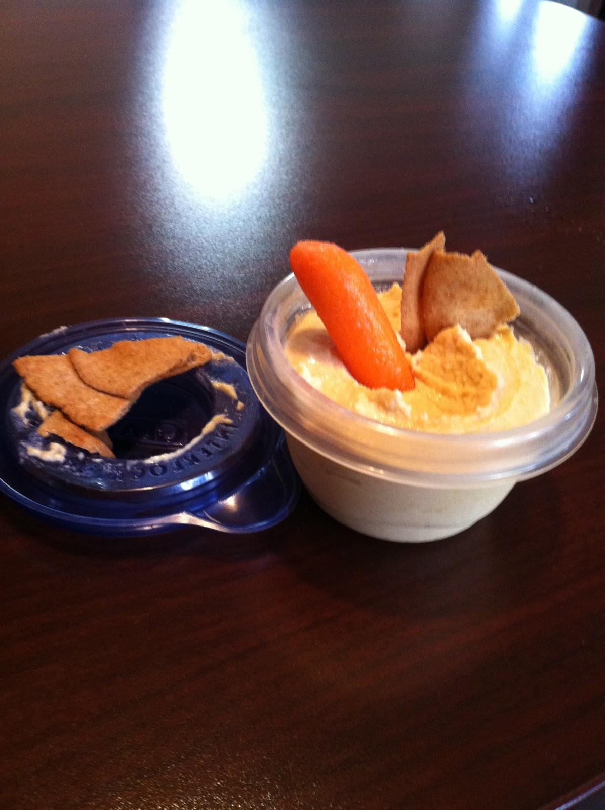 Carrots and hummus