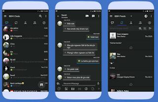 BBM Mod Dark OS V3.3.0.16 Apk [BBM Mod Dark Depth]