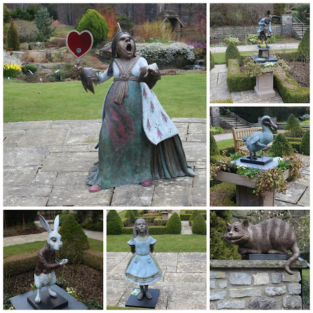 Storybook character sculptures at Kilver Court garden