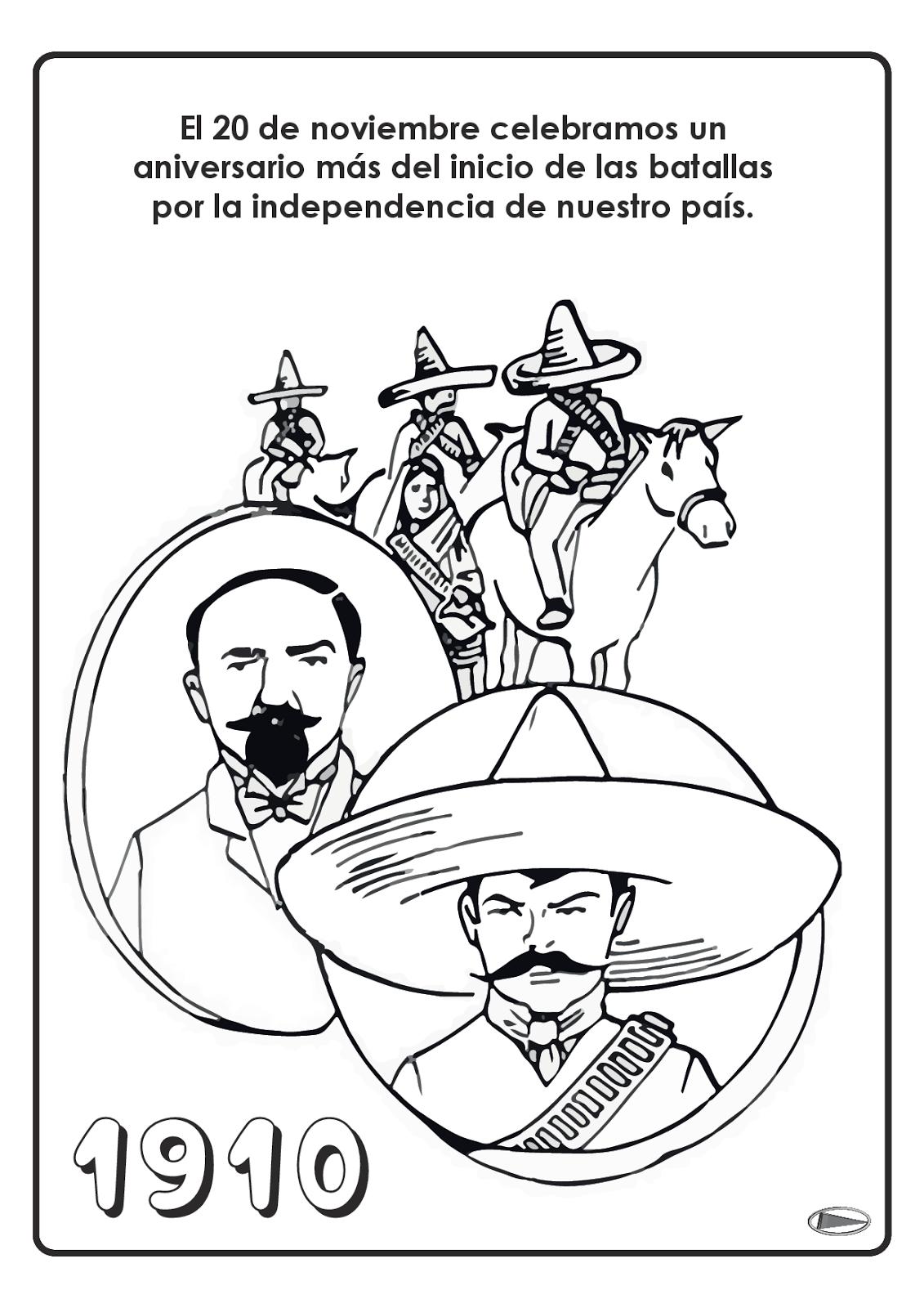 Revolucion Mexicana 20 De Noviembre Para Colorear