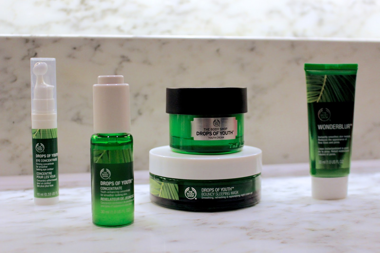 the body shop drops of youth range blog review