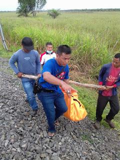 Mayat Laki laki Ditemukan Di Rel Kereta