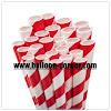 Paper Straw / Sedotan Kertas Motif Spiral