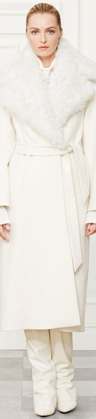 Ralph Lauren Wool-Cashmere Leonarda Coat Fall 2014 Collection