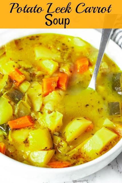 Vegan Potato, Leek, Carrot Soup