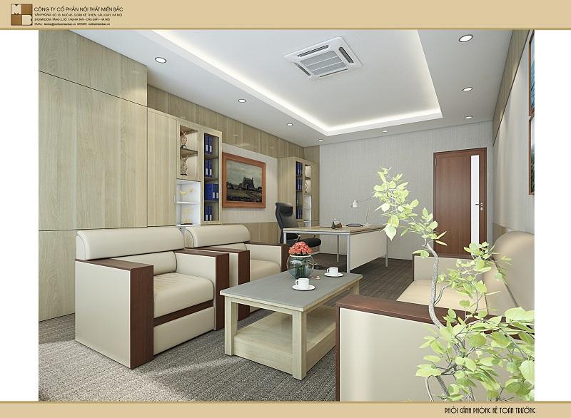 Thiết kế nội thất tại Hà Nội không gian phòng kế toán có tính thẩm mỹ cao