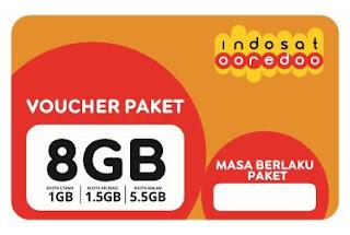 Voucher PAKET Indosat 8 Gb