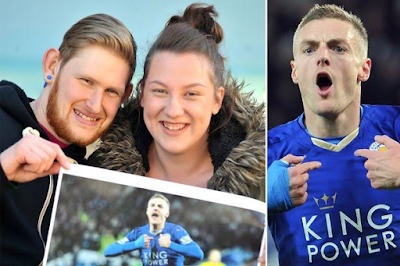 5000 fans sign petition for Fan to name his child after Leicester star Jamie Vardy