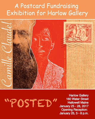 CAMILLE CLAUDEL : A POSTCARD FUNDRAISING EXHIBITION FOR HARLOW GALLERY : 2017.01.25 Mary Becker Weiss