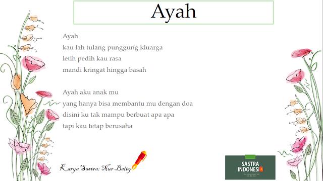 34sastraindonesia puisi untuk ayah