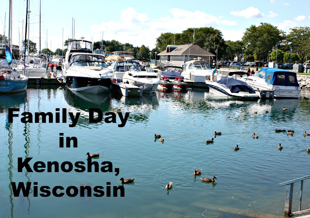 The marina during our family day in Kenosha, Wisconsin