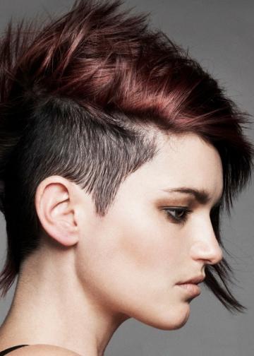 Half Shaved Hair Style 102