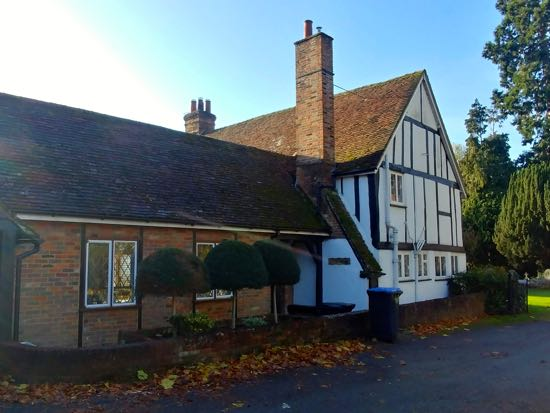 Photograph of Church Cottage, St Mary's, North Mymms - November 2018  Image by the North Mymms History Project released under Creative Commons