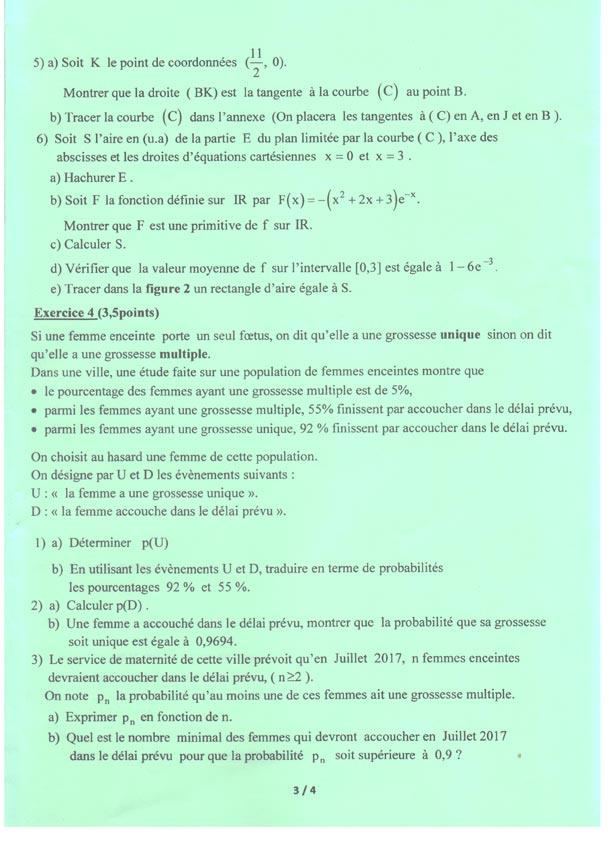 امتحان الرياضيات للبكالوريا علوم تجريبية section-sciences-mat