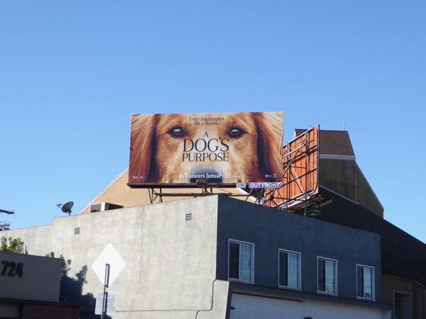 Dogs Purpose film billboard