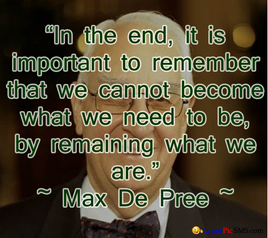 max de pree thought quotes picture