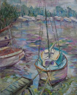 Оксана Лупич, В ожидании путешествия. Яхточка. 2008 (Масло, холст, 50х40)