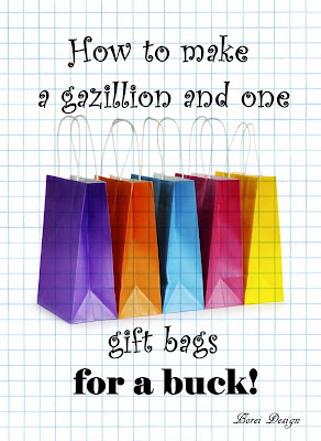 DIY Tutorial: How to make your own gift bags.
