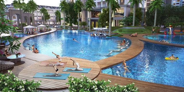 Bể bơi cao cấp tại dự án Louis City