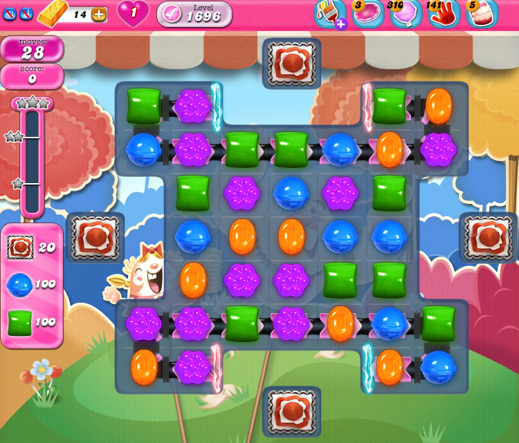 Candy Crush Saga 1696