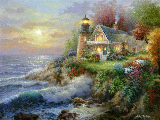 "Lovely Paintings by American Painter ""Nicky Boehme"""