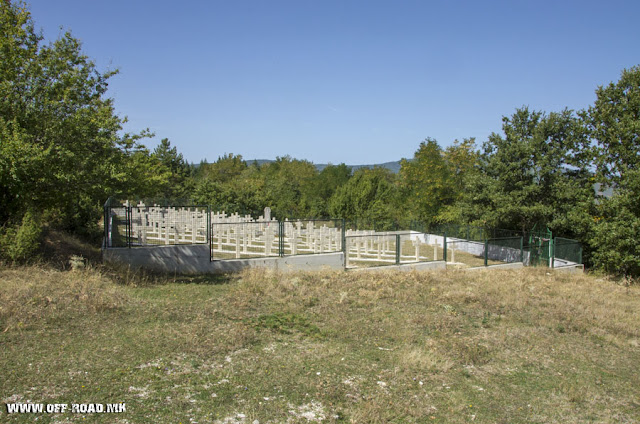 Bulgarian WW1 cemetery near village Capari - Bitola municipality