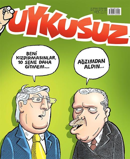 Uykusuz Dergisi - 21 Nisan 2016 Kapak Karikatürü