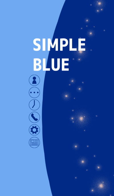 Simple blue thema typeA(50coins)