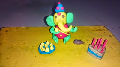 Play doh fun on Ganesha Celebration