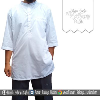 Baju Kurta Putih Katun