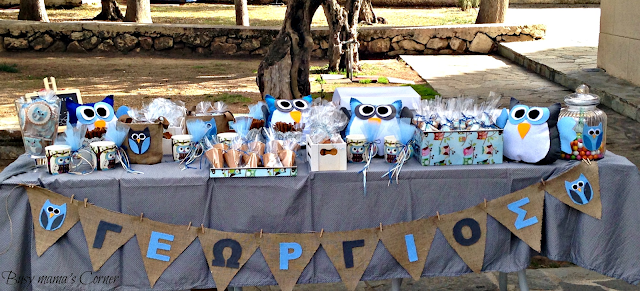 owl boy baptism name banner
