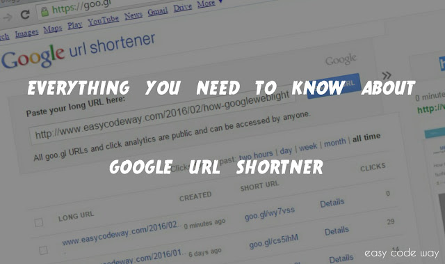 Everything About Google URL Shortener