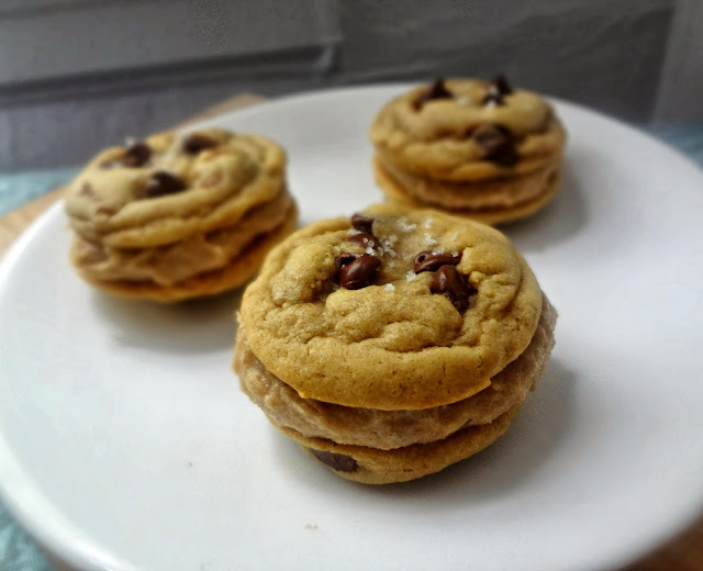 Brown Butter Chocolate Chip Cookie Dough Sandwich Cookies
