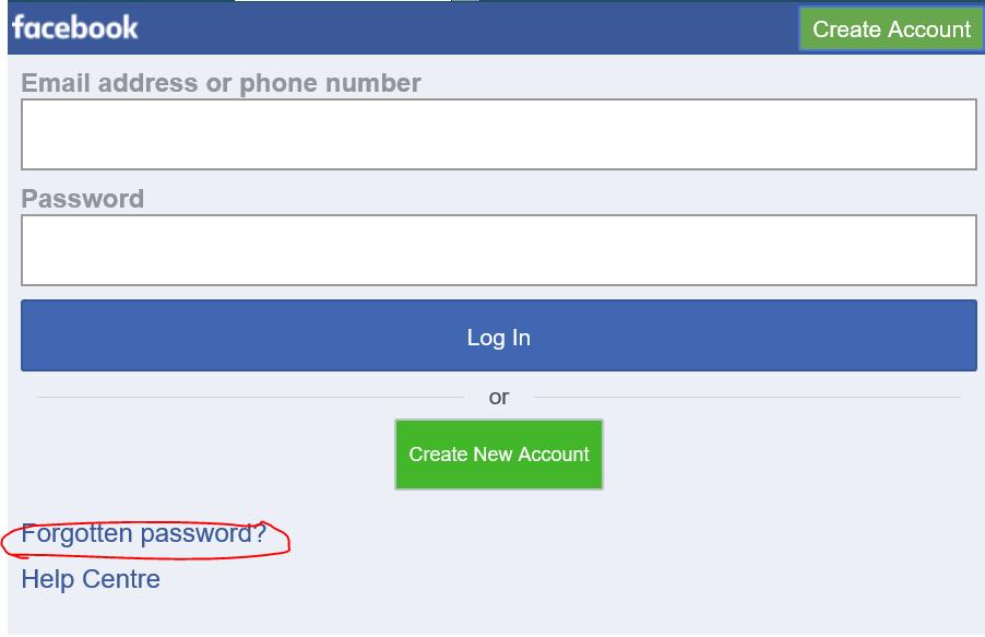 Forgot Facebook Password from Mobile | TheKroyaard