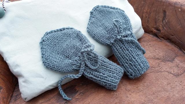 Handschuhe für Babys stricken kostenlose Anleitung