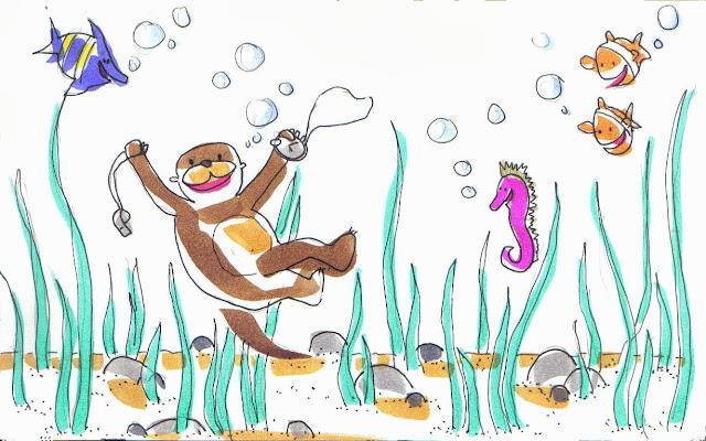 Cuento sobre la amistad entre una nutria y un caballito de mar