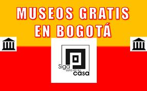Poster MUSEOS GRATIS en Bogotá