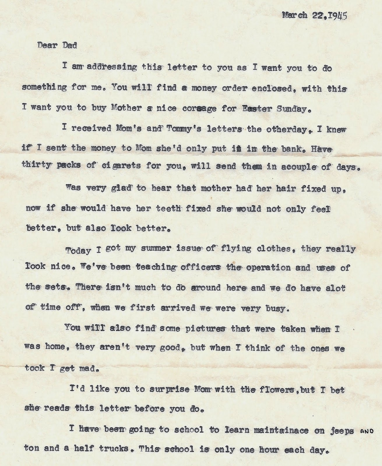 Uncle Louie S Letters To Home May