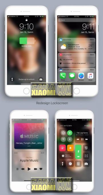 MIUI Theme IOS Alakadarnya v11.2.1 Tema Xiaomi Seperti IPHONE [Update This Week]