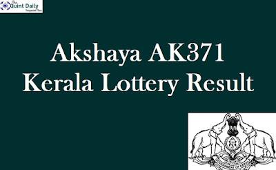 Akshaya AK371 Lottery Result 27.11.2018