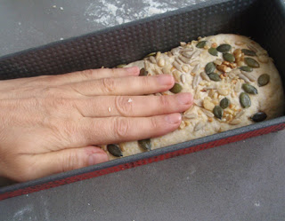 fijación de semillas al pan