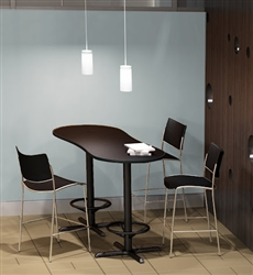 Peanut Shaped Bistro Table with Armless Stools