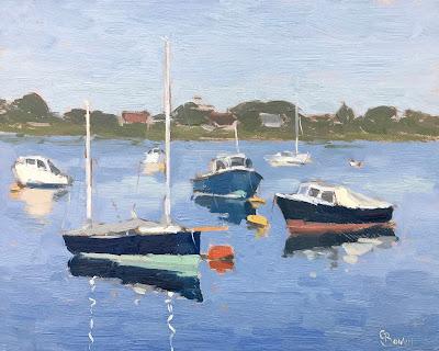 #226 'Boats, Bosham Harbour' 8×10″