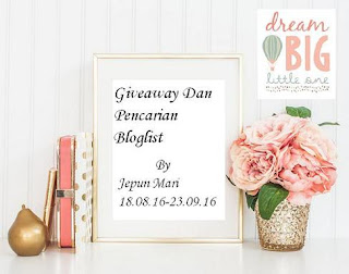 Giveaway dan Pencarian Bloglist by Jepun Mari