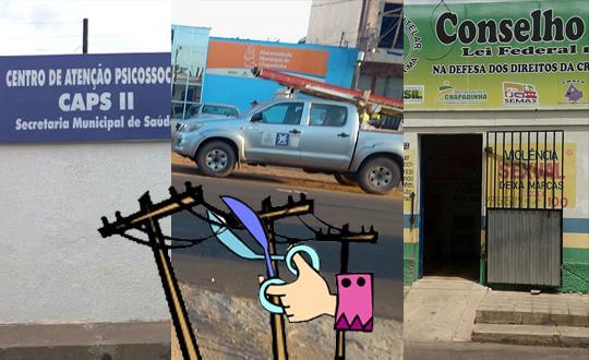 Em Chapadinha, órgãos municipais tem energia cortada por falta de pagamento